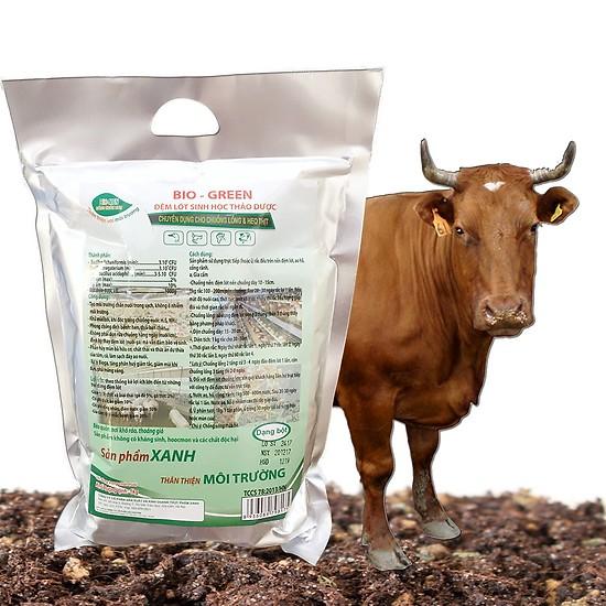 đệm lót sinh học thảo dược cho bò, xử lý mùi hôi chuồng trại