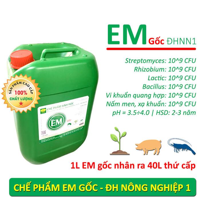 Chế phẩm EM gốc (EM1) - Men vi sinh Đại học Nông Nghiệp 1 Hà Nội