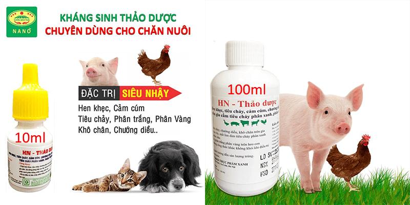 HN kháng sinh thảo dược trị bệnh chăn nuôi
