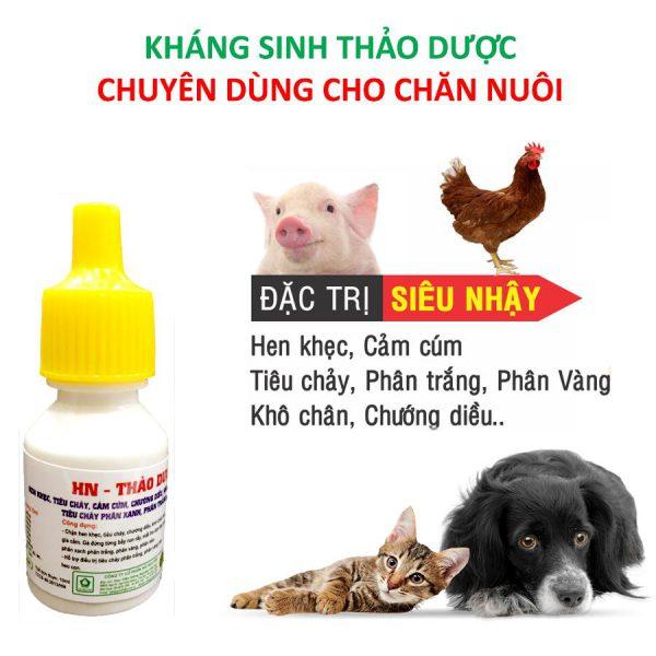 kháng sinh thảo dược đặc trị hen khẹc tiêu chảy phân trắng cho gia súc gia cầm và thú cưng 5