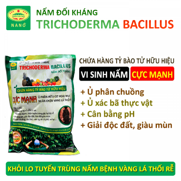 Nấm đối kháng trichoderma ủ phân hữu cơ hoai mục