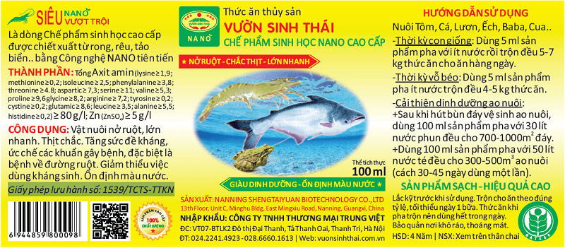 Thức ăn thủy sản VƯỜN SINH THÁI